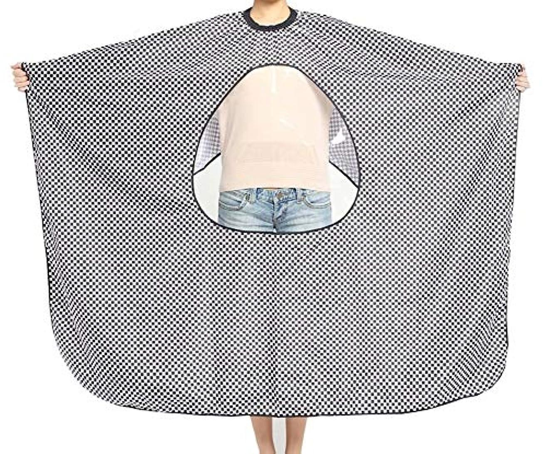 洗う始める証明するHIZLJJ 理髪岬ユニセックス-プロフェッショナル/商用ヘアカット用の透明なビューイングウィンドウサロンエプロン