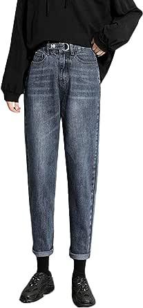 [YUNHEN]デニムパンツ レディース ジーンズ ゆったり ジーパン ハイウエスト 着痩せ Gパン オシャレ ワイドパンツ デニム ロング丈 ストレートパンツ ファッション ズボン