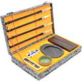 Wancetang Chinese Calligraphy Sumi Set for Chinese Calligraphy Lovers Brush Writing/Painting(10 Items)