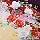 京 金彩友禅 束ねのし菊花(古代紫) 生地巾37cm×長さ158cm単位 切り売り 和柄 布地 はぎれ 生地 着物生地 ファブリックパネル