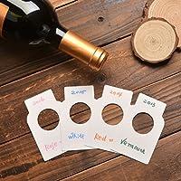 白い紙 ワイン用 ボトル タグ ワインセラーラベル 200枚入り