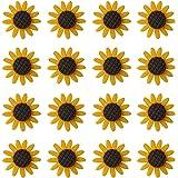 XQingmei 40 Pieces Beautiful Sunflower Flatback Resin Decoration Accessories Crystal Mud Stuffing Cute Girl Charm Embellishme