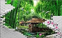 Sproud 3 D 壁画壁 3D 写真の壁紙の壁紙竹の森壁紙ルーム 3D 壁画 250 Cmx 175 Cm リビング向けにカスタマイズしてください。