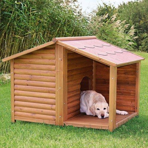 【ドイツTRIXIE】屋外用犬小屋!TRIXIE ナチュラドッグケンネルサドルルーフ ブラウン L