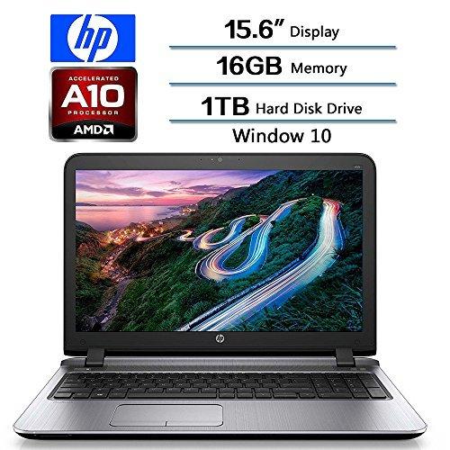 HP High Performance 15.6-Inch ProBook AMD A10-Series A10-8700P 1.80 GHz16 GB RAM1 TB Hard Drive Windows 10 (Certified Refurbished) [並行輸入品]