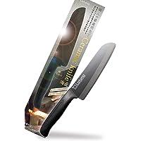 包丁 セラミック 【高級料亭料理人監修】 黒 【日本製】極軽 95g 錆びない 165mm 高密度セラミック 食洗機対応…