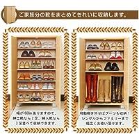 靴の高さに合わせて可動棚を外せば長さのあるブーツも収納できます。女性の方にもおすすめ下駄箱!幅60㎝ ホワイト