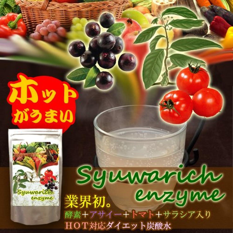 業界燃料季節シュワリッチ エンザイム 2個セット(酵素+アサイー+トマト+サラシア+フォルスコリ配合 ホット対応ダイエット炭酸水)