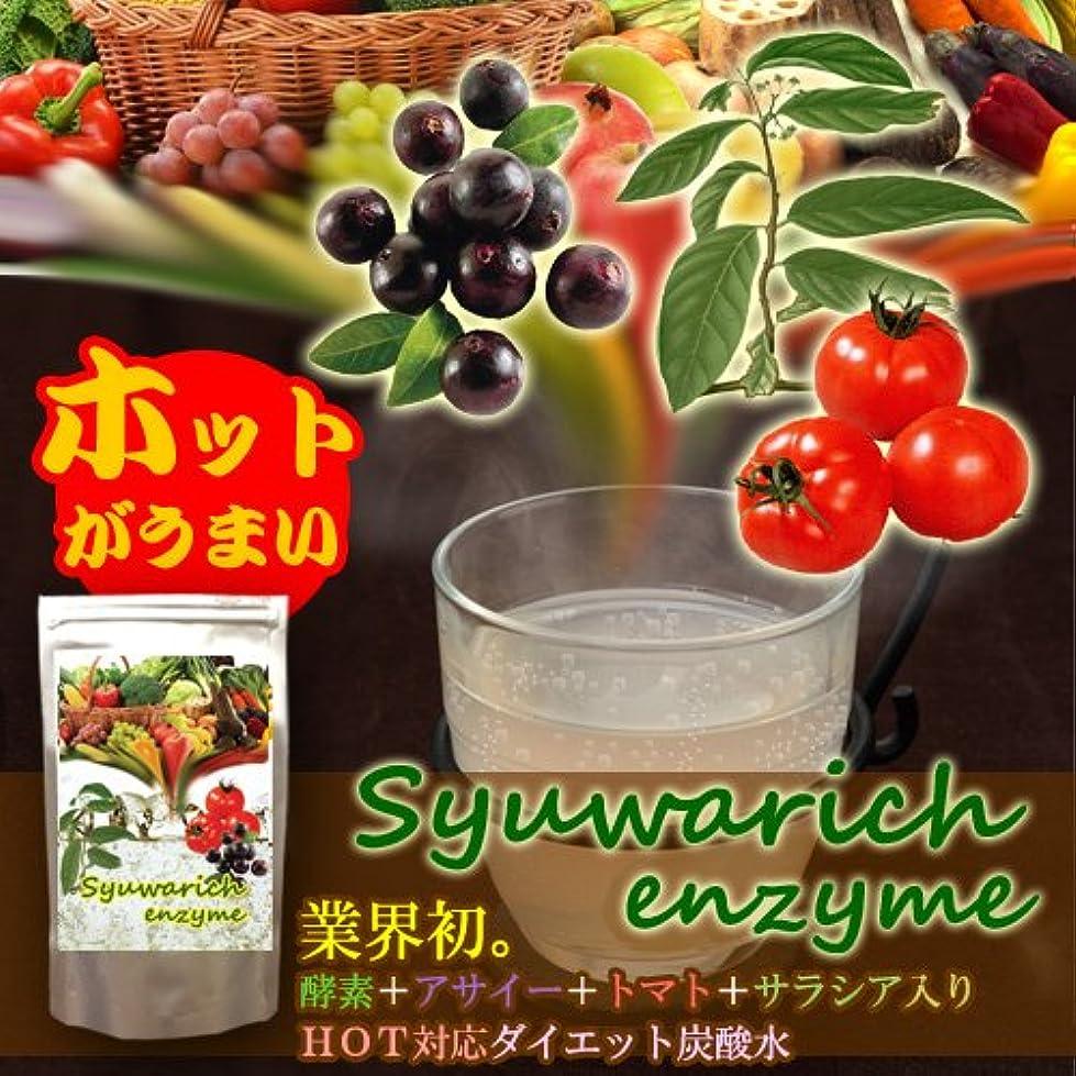 なる放棄胆嚢シュワリッチ エンザイム 2個セット(酵素+アサイー+トマト+サラシア+フォルスコリ配合 ホット対応ダイエット炭酸水)