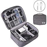 OrgaWise 電子アクセサリーバッグ 旅行ケーブルオーガナイザー 3層 iPad Mini Kindle HDD ケーブル 充電器 OrgaWise