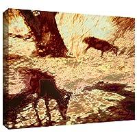 ArtWall Dean Uhlinger 「朝の鹿」ギャラリー‐布キャンバスアートワーク 24x32 0uhl085a2432w