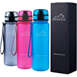KOBONA 500-ml Smart and Handy Small Sport Water Bottle - Wide Mouth for Ice, Fruit Infuser Sieve, Leak Proof, Light Weight, F