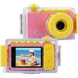 BlueFire Kids Digital Camera Mini 2 Inch Screen Children's Camera 8MP HD Digital Camera with Waterproof Case & 256M SD Card,