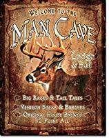 Man Caveバーラック&ロッジBig & Tall Tales Tin Collectible Signギフト
