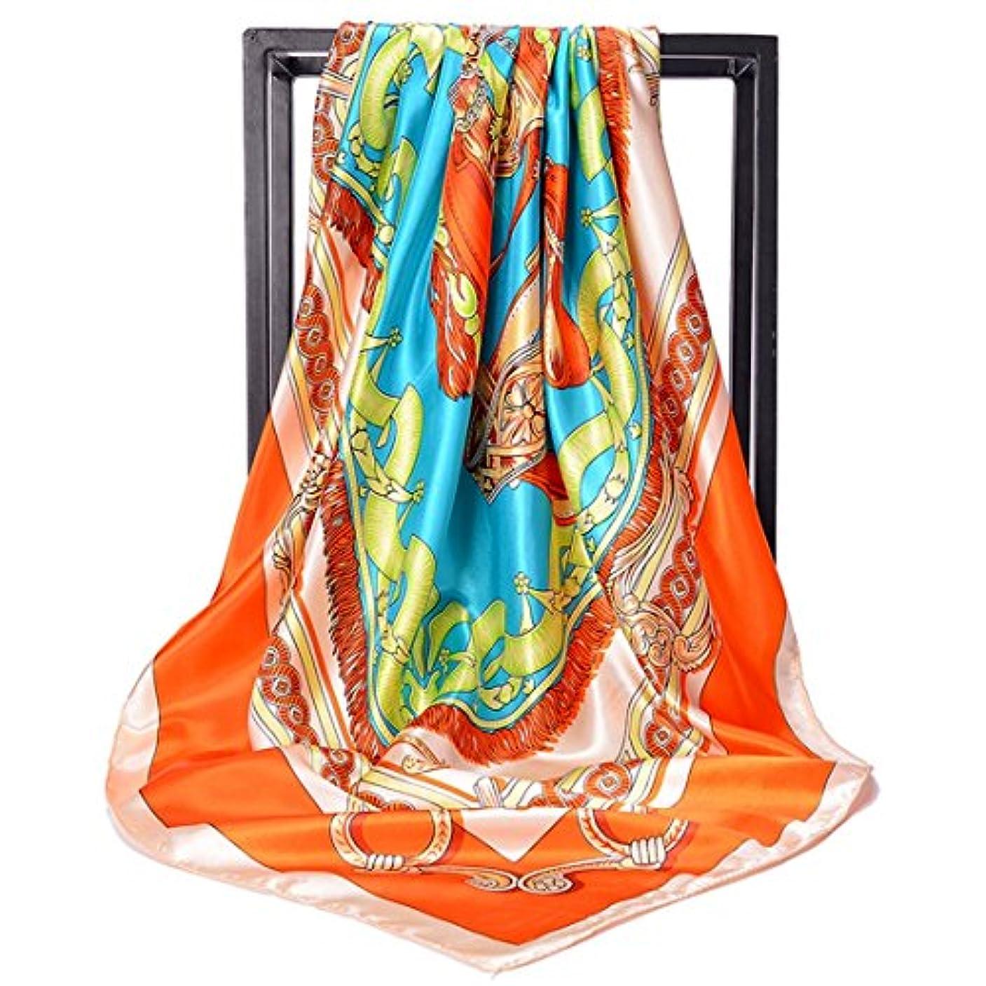 ただやる患者重くする高品質プリントスカーフスカーフショール大シルクサテンスクエアスカーフ女性