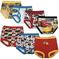 Disney Boys TBUP6533 Cars 3pk Training Pants & 4pk Briefs Underwear - Multi