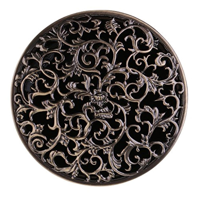 極貧化粧分数チベット 合金 香炉 コーンホルダー 仏教 香りバーナー ボックス 家 装飾 全3色 - ブロンズ
