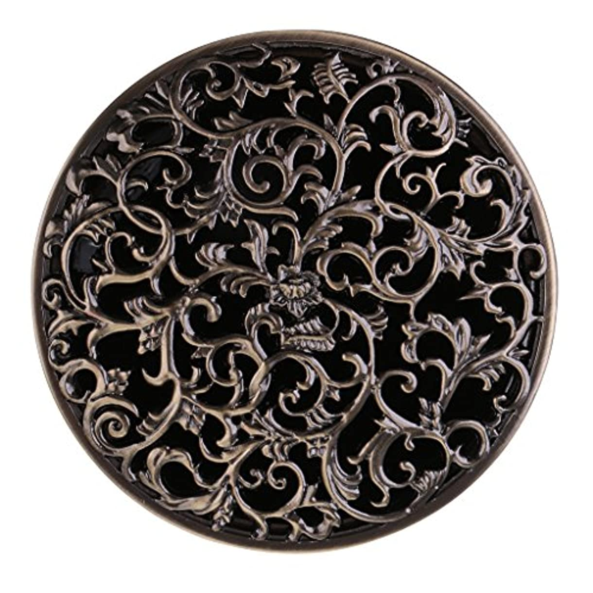アラバマ北西果てしないチベット 合金 香炉 コーンホルダー 仏教 香りバーナー ボックス 家 装飾 全3色 - ブロンズ