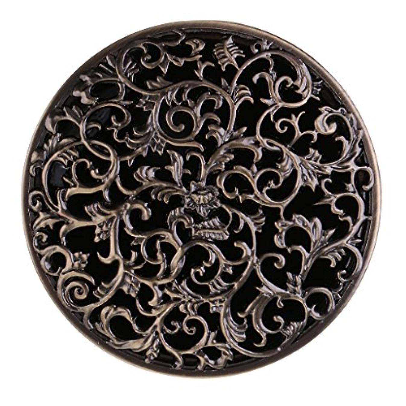 聴覚トリクル各チベット 合金 香炉 コーンホルダー 仏教 香りバーナー ボックス 家 装飾 全3色 - ブロンズ