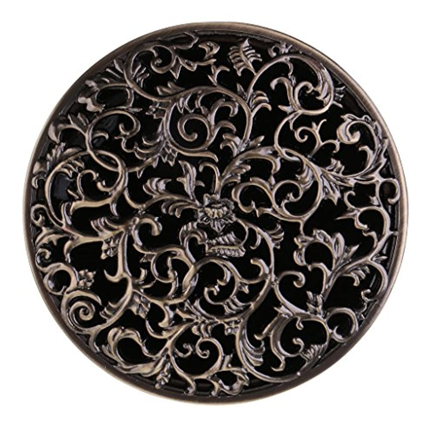 脅迫パイプライン満足させるBaoblaze チベット 合金 香炉 コーンホルダー 仏教 香りバーナー ボックス 家 装飾 全3色   - ブロンズ