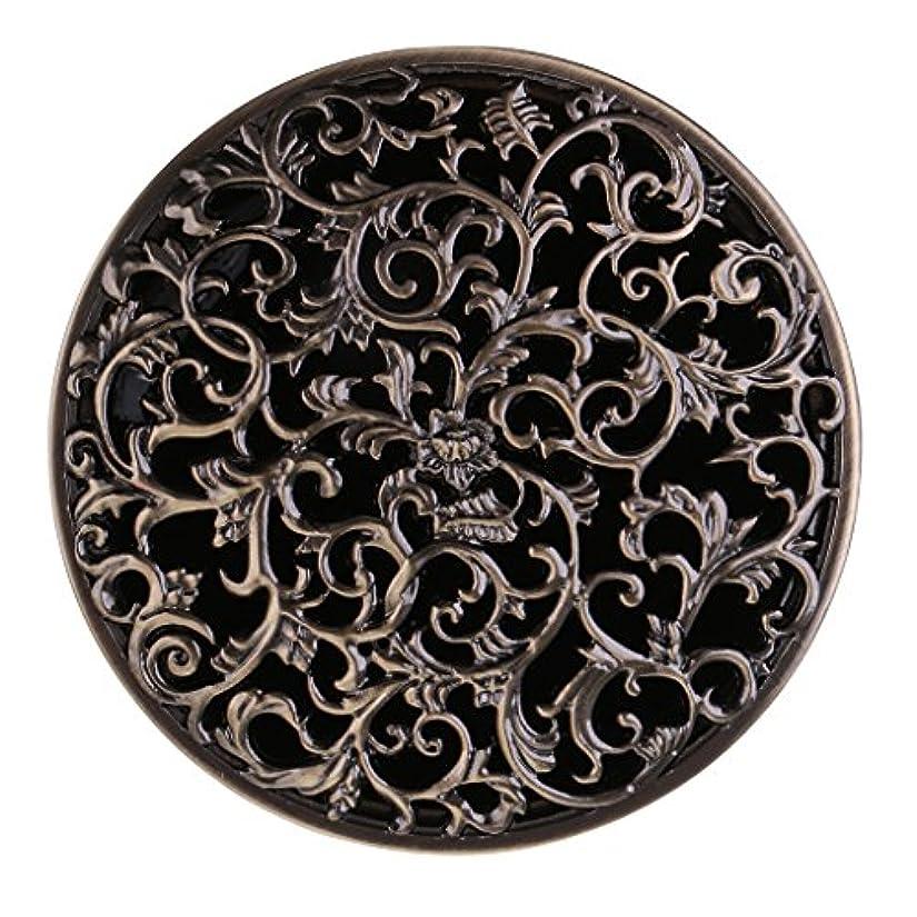 熱心な暴君リクルートチベット 合金 香炉 コーンホルダー 仏教 香りバーナー ボックス 家 装飾 全3色 - ブロンズ