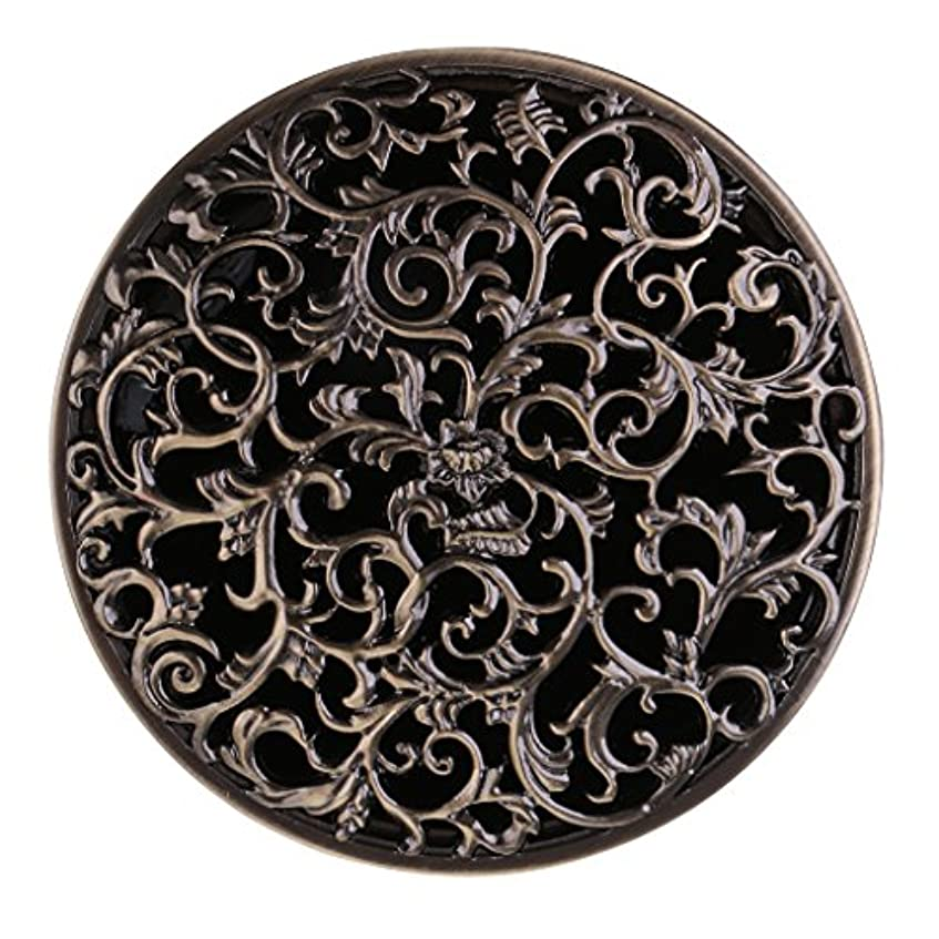 バッフル任命保安チベット 合金 香炉 コーンホルダー 仏教 香りバーナー ボックス 家 装飾 全3色 - ブロンズ