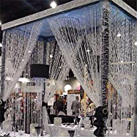 カーテンビーズ ビーズチェーン 透明 珠 窓 ドア 入り口 ウェディングパーティー 結婚式 お祝い DIY用 装飾 10m