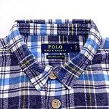 POLO Ralph Lauren ポロ ラルフローレン フランネル チェックシャツ 長袖 ピマコットン メンズ シャツ ブルー系 Mサイズ 並行輸入品 VITA1606-M