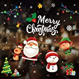 Pertop Christmas Window Stickers,Christmas Wall Decals Peel and Stick Window Sticker Holiday Sticker for Home (Snowman)