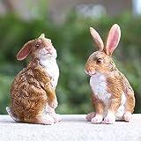 XIFIRY Rabbit Garden Animal Statue - Best Indoor Outdoor Sculpture Ornaments Yard Art Figurines for Patio Lawn House