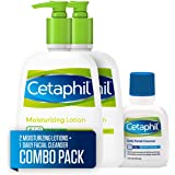 Cetaphil Moisturizing Lotion for All Skin Types, Body and Face Lotion, Two 16 Fl Oz Bottles, plus 2-oz. Cetaphil Daily Facial