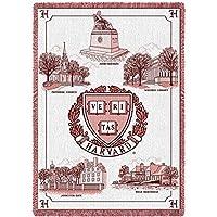 ハーバード大学キャンパスStadiumブランケット、48インチ高by 69インチ、とはWovenから100%コットン。
