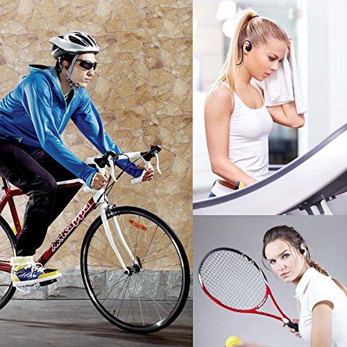 『LEVIN Bluetooth4.1 イヤホン 防水&防汗(IP66防水等級) 高音質 スポーツ仕様 ワイヤレスヘッドフォン (オレンジ&ブラック)』の5枚目の画像