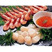 オホーツクの海鮮3種盛り(甘エビ・ホタテ貝柱・いくら醤油漬け)