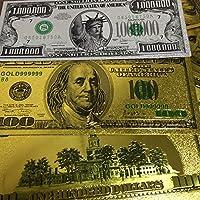 ミリオネアクラブUSDBanknote金のアメリカドル札紙幣カードUSD白銀の女神