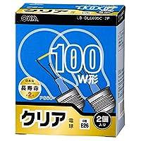 白熱電球 E26 100W相当 クリア 2個入 長寿命 OHM LB-DL6695C-2P 06-0561 オーム電機
