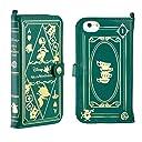 iPhone6s iPhone6 ケース 手帳型 カバー ディズニー Old Book / アリス / モスグリーン