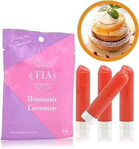 TIA ティア ビタミン入り 口紅型 電子タバコ 専用 フレーバーカートリッジ (オレンジカスタード)