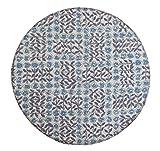 FLORET LONDON [LIBERTY PRINT リバティプリント]を使用した チェアパッド02 約38φcm(ウレタンチップ中材入り) ACスリーピング・ローズ ネイビー