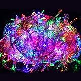 GOODGOODS LED イルミネーションライト パーティー用 電飾 装飾 ミックス MIXカラー 500球 全長30m 連結可 防雨 防水 LD33 RGB