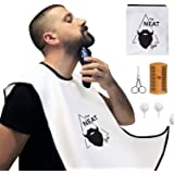 The Neat Guy 5-PACK Beard Catcher Kit with Beard Apron/Bib for Mess-Free Shaving + Comb + Scissor + Bag, All you Need for a G
