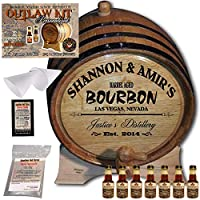 Personalized Outlawキット( Tennessee Bourbon )からAmericanオークバレル–デザイン062: Barrel Aged Bourbon 5 Liter