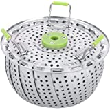 Steaming Stand, Food Steamer Rack, Heavy Duty Mesh Dish Fruit Vegetable Basket for Home Kitchen Cooking