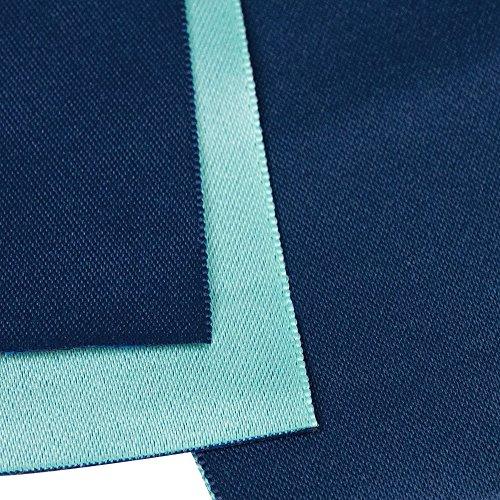 (キョウエツ)KYOETSU 日本製 半幅帯 袴下帯 浴衣帯 リバーシブル 無地 (紺×サックス)