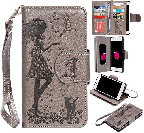 iPhone8 Plus ケース UNEXTATI カード収...