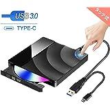 【最新版】 Karsspor USB 3.0外付け DVD ドライブ DVD プレイヤー ポータブルドライブ CD/DVD読取・書込 タッチポップ式 高速 静音 超スリム DVD±RW CD-RW USB3.0/2.0 Window/Mac OS両対応