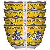 Le Cadeaux Set of 4 Desert Bowls Benidorm, 5 inches, Multicolor