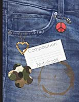 Jeans Pocket Design Composition Notebook: College Ruled Lined 200 Page Book (7.44 X 9.69)
