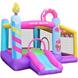 doctor dolphin Outdoor Indoor Bounce House, Inflatable Bouncy House for Kids with Blower,Jumping House Castle with Slide, Bal