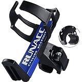 RUNACC 自転車用ボトルホルダー サイクルボトルケージ ドリンクホルダー クランプ式 調整可能 ブラック